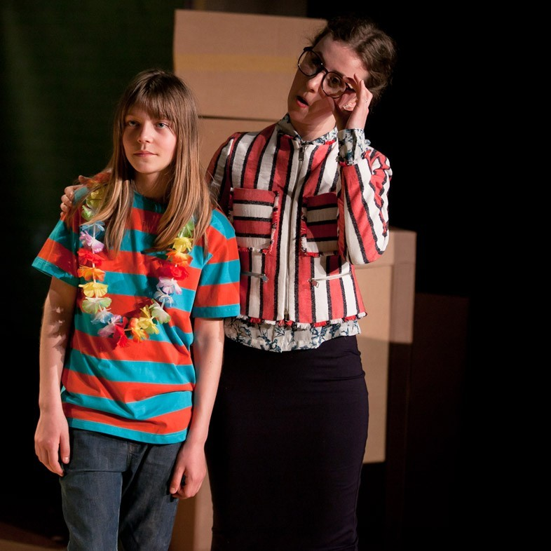 Phoenix Payne as Leo and Florence King as Millie