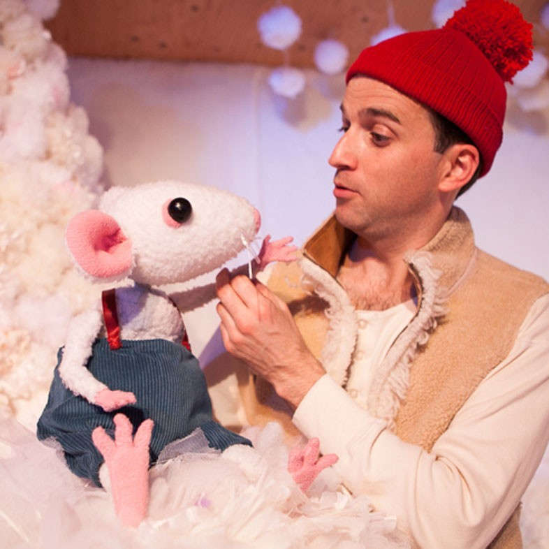Paul Curley in original production, Snow Mouse 2015